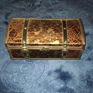 Cute Wooden Treasure Storage Box